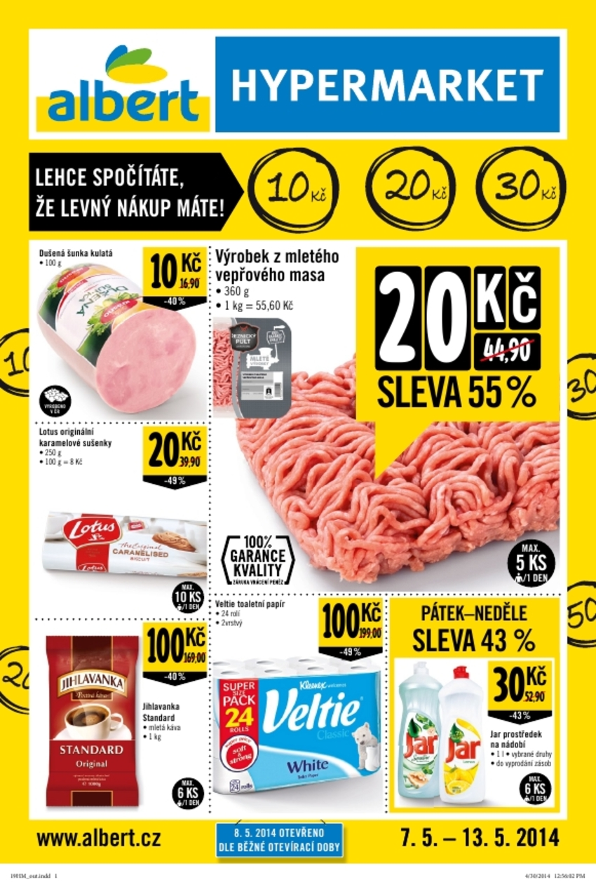 Leták Albert hypermarket - strana 1