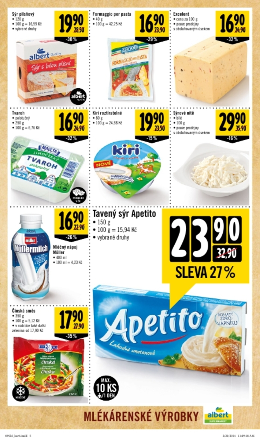 Leták Albert supermarket - strana 5