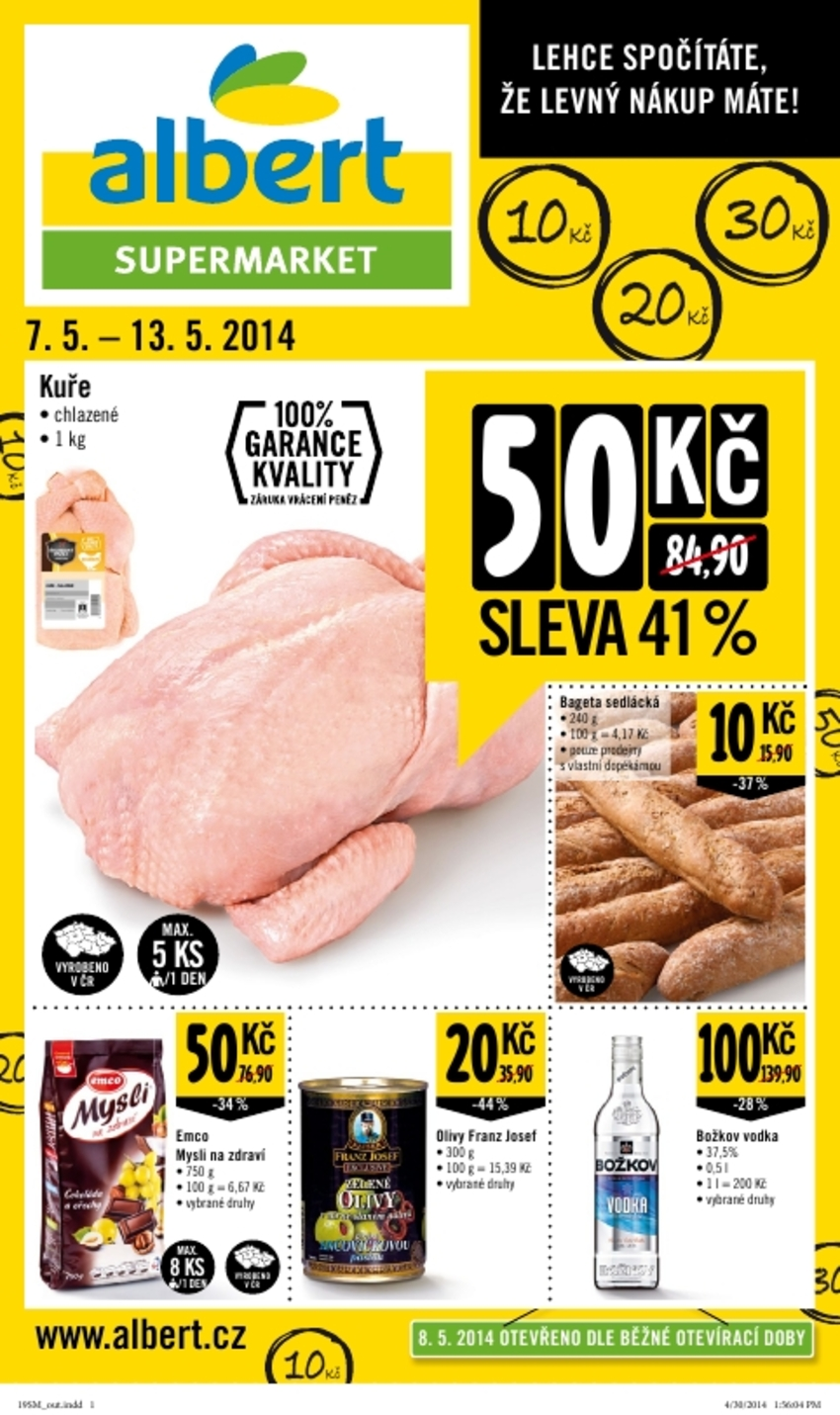 Leták Albert supermarket - strana 1