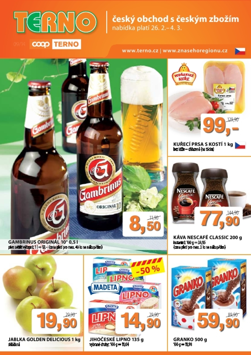 Leták TERNO supermarket - strana 1