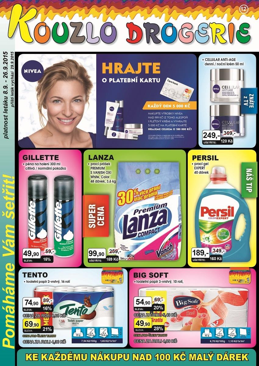 Leták Kouzlo drogerie - strana 1